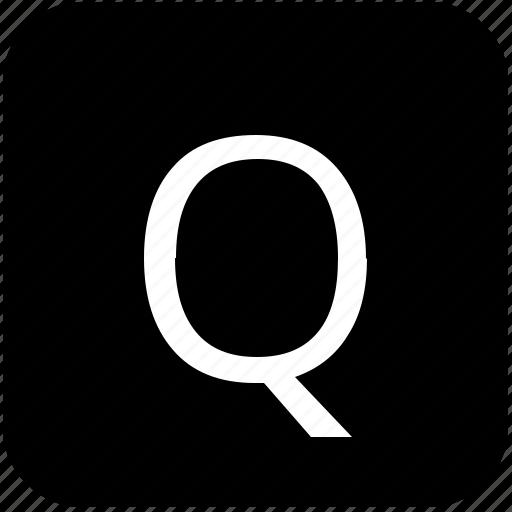 keypad, latin, letter, q, uppercase icon