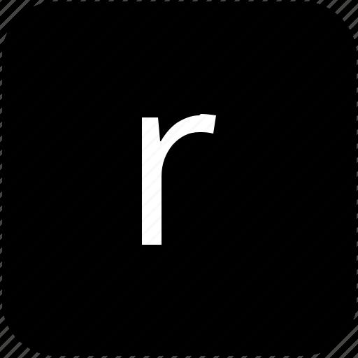 keypad, latin, letter, lowcase, r icon