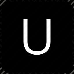keypad, latin, letter, u, uppercase icon