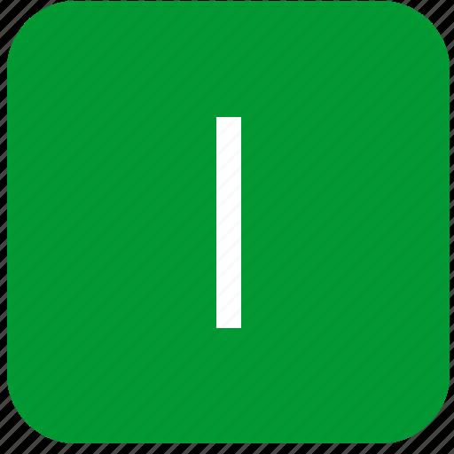 green, i, keyboard, keypad, letter, select, uppercase icon