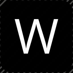 keypad, latin, letter, uppercase, w icon