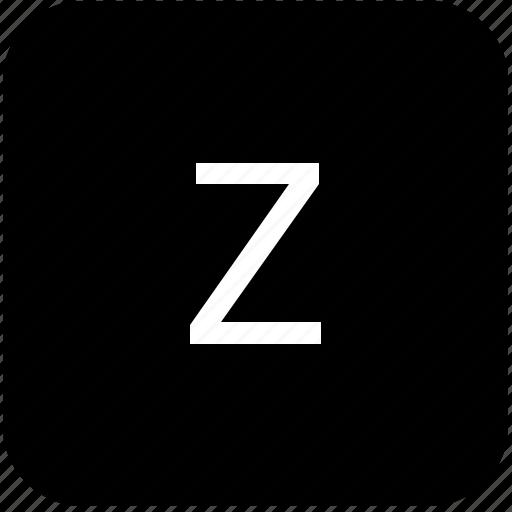 keypad, latin, letter, lowcase, z icon