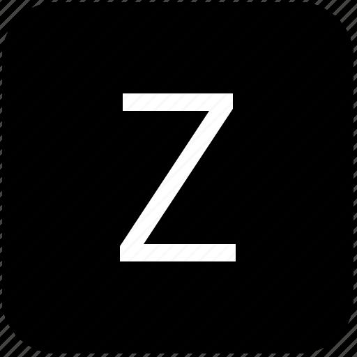 keypad, latin, letter, uppercase, z icon