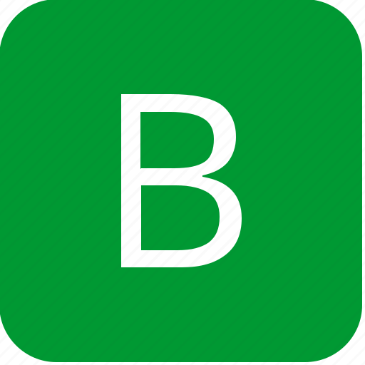 b, green, keyboard, keypad, letter, select, uppercase icon