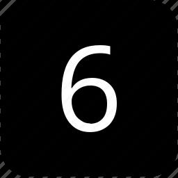 keyboard, keypad, number, six icon