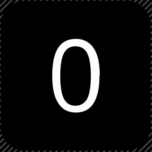 keyboard, keypad, number, zero icon