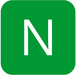 green, keyboard, keypad, letter, n, uppercase icon