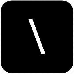 function, keyboard, keypad, right, slash icon