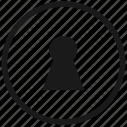 access, atm, door, doorhole, hole, round, security icon