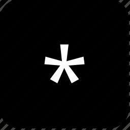 element, function, keyboard, keypad, star icon
