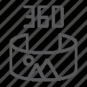 angle, degree, panorama, panoramic, rotation, view icon