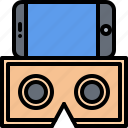 3d, cardboard, glasses, phone, reality, virtual, vr icon