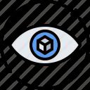 3d, cube, eye, glasses, reality, virtual, vision, vr