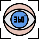 3d, eye, glasses, reality, virtual, vision, vr icon