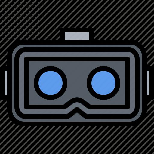 3, 3d, glasses, inside, lenses, reality, virtual, vr icon
