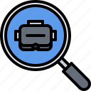 3d, glasses, magnifier, reality, search, virtual, vr icon