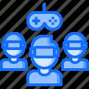 3d, game, gamer, glasses, reality, team, virtual, vr