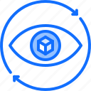 3d, cube, eye, glasses, reality, virtual, vision, vr icon
