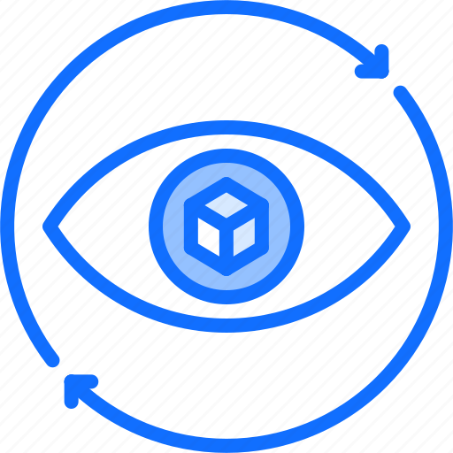 3d, cube, eye, glasses, reality, virtual, vision, vr icon