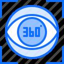 3d, eye, glasses, reality, virtual, vision, vr icon
