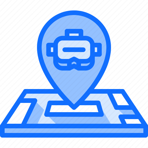 3d, glasses, location, map, pin, reality, virtual icon - Download on Iconfinder