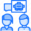 3d, consultation, dialogue, glasses, reality, talk, virtual, vr