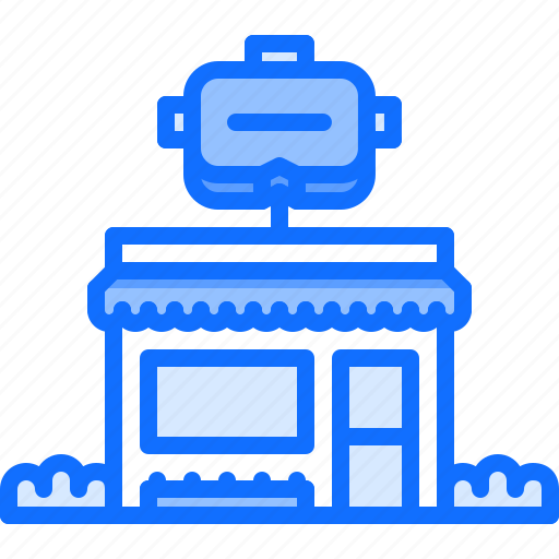 3d, building, glasses, reality, shop, virtual, vr icon - Download on Iconfinder