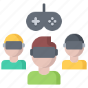 3d, game, gamer, glasses, reality, team, virtual, vr