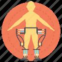 exoframe, hardsuit, human exoskeleton, powered armor, powered exoskeleton icon