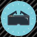 3d glasses, virtual reality glasses, virtual reality goggles, virtual reality headset, vr glasses icon