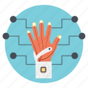 dataglove, tracking glove, virtual reality controller, vr glove, wired glove icon
