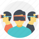 augmented reality, virtual reality, virtual reality glasses, virtual world, vr technology icon