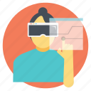 augmented reality, projection based vr, virtual reality, virtual reality software, vr projection icon