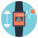 fitness tracker, smartwatch, wearable device, wearable tech, wearable tracker icon