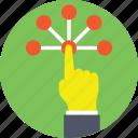finger touch, interactive design, interactive screen, touch screen, virtual screen icon