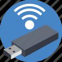 internet dongle, usb internet dongle, usb wireless receiver, wifi device, wireless internet icon