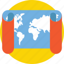 direction, location, map, world map icon