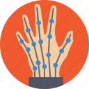 artificial hand, artificial intelligence, biomedical engineering, mechanical hand, robotic hand icon