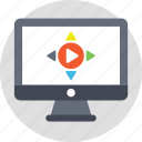 media player, online player, online video, video content, video player icon