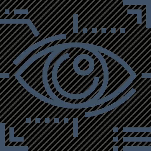 control, detection, eye, future, iris, security icon