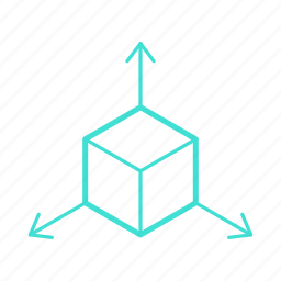 3d, box, cube, dimension, gaming, three-dimensional icon