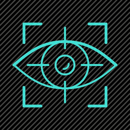 eye, human, sight, system, testing, tracking, vision icon