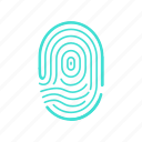access, biometric, finger, fingerprint, id, identification, security icon