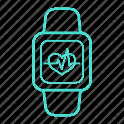 bracelet, control, fitness, health, heart, tracker icon