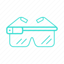 augmented, glasses, reality, view, virtual, vision, vr icon