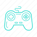 controller, game, gaming, joystick, play, virtual icon
