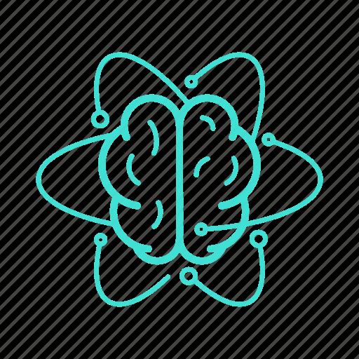 brain, connection, contemplation, mind, neuroscience, think icon