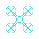 aerial, drone, flying, multicopter, quadrocopter, robot, rotor icon