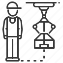 factory, industrial, loader, robot icon