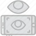 vr, retina, reality, virtual, scan icon